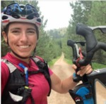 Meg Fisher rides on