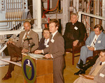 Max Baucus at a magnetohydrodynamics event by Creator unknown
