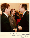 Max Baucus and George H.W. Bush by Creator unknown