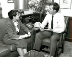 Max Baucus and Elizabeth Dole by Creator unknown