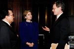 Max Baucus, Hillary Rodham Clinton, and Daniel Inouye by Creator unknown