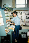 Max Baucus during UPS workday by Creator unknown