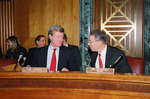 Max Baucus and Chuck Grassley at Senate Committee on Finance meeting by Creator unknown