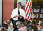 Max Baucus speaking to middle school students about meth by Creator unknown