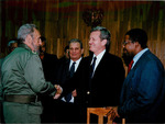 Max Baucus and Fidel Castro by Creator unknown