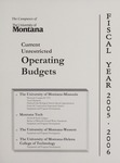 Current Unrestricted Operating Budgets, Fiscal Year 2006