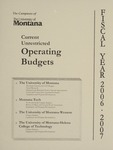 Current Unrestricted Operating Budgets, Fiscal Year 2007