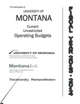 Current Unrestricted Operating Budgets, Fiscal Year 2014