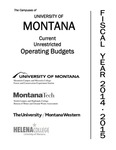 Current Unrestricted Operating Budgets, Fiscal Year 2015