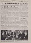 Communique, Fall 1962 by University of Montana--Missoula. School of Journalism