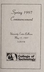 College of Technology Spring Commencement Program, 1997