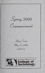College of Technology Spring Commencement Program, 2000