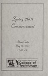 College of Technology Spring Commencement Program, 2001