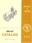 1965-1967 Course Catalog