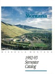 1992-1993 Course Catalog by University of Montana--Missoula. Office of the Registrar
