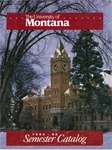 1994-1995 Course Catalog by University of Montana--Missoula. Office of the Registrar