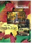 1995-1996 Course Catalog by University of Montana--Missoula. Office of the Registrar