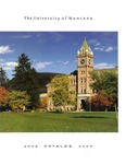2008-2009 Course Catalog by University of Montana--Missoula. Office of the Registrar