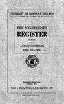 1913-1914 Course Catalog