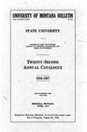 1916-1917 Course Catalog