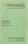 1951-1953 Course Catalog