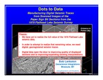 K. Dots to Data: Manufacturing Digital Seismic Traces from Scanned Images of the Paper Sign Bit Sections from the 1970 Flathead Lake Seismic Survey