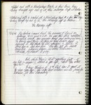 Notebook entry dated May 11, 1999 by Patricia Goedicke