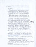 Letter from Cal Bedient dated October 23, 1993