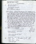 Notebook entry dated September 11, 2002