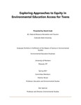 Exploring Approaches to Equity in Environmental Education Access for Teens