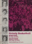 Grizzly Basketball Game Day Program, February 21, 1975