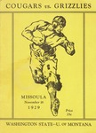 Grizzly Football Game Day Program, November 16, 1929 by University of Montana—Missoula. Athletics Department