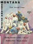 Grizzly Football Game Day Program, November 4, 1972 by University of Montana—Missoula. Athletics Department