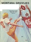 Grizzly Football Game Day Program, November 16, 1974 by University of Montana—Missoula. Athletics Department