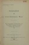 Interscholastic Meet Announcement, 1905 by University of Montana (Missoula, Mont.: 1893-1913). Interscholastic Committee
