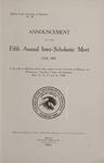 Interscholastic Meet Announcement, 1908 by University of Montana (Missoula, Mont.: 1893-1913). Interscholastic Committee