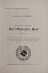 Interscholastic Meet Announcement, 1910 by University of Montana (Missoula, Mont.: 1893-1913). Interscholastic Committee