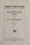 Interscholastic Meet Announcement, 1920