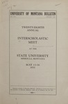 Interscholastic Meet Announcement, 1931 by State University of Montana (Missoula, Mont.). Interscholastic Committee