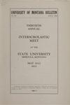 Interscholastic Meet Announcement, 1933
