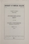 Interscholastic Meet Announcement, 1934