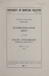 Interscholastic Meet Announcement, 1935 by State University of Montana (Missoula, Mont.). Interscholastic Committee