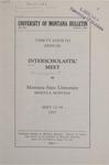 Interscholastic Meet Announcement, 1937 by Montana State University (Missoula, Mont.). Interscholastic Committee