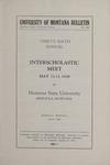 Interscholastic Meet Announcement, 1939 by Montana State University (Missoula, Mont.). Interscholastic Committee