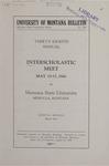 Interscholastic Meet Announcement, 1941 by Montana State University (Missoula, Mont.). Interscholastic Committee