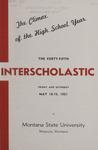 Interscholastic Meet Announcement, 1951 by Montana State University (Missoula, Mont.). Interscholastic Committee
