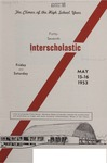 Interscholastic Meet Announcement, 1953 by Montana State University (Missoula, Mont.). Interscholastic Committee