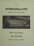 Interscholastic Meet Announcement, 1957