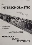 Interscholastic Meet Announcement, 1958 by Montana State University (Missoula, Mont.). Interscholastic Committee