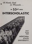 Interscholastic Meet Announcement, 1959 by Montana State University (Missoula, Mont.). Interscholastic Committee